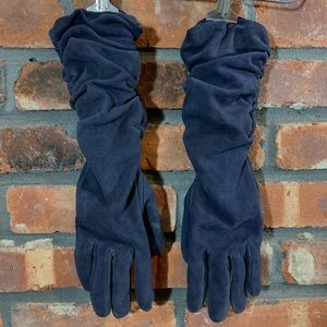 Club Monaco Leather Gloves Cashmere Wool & Lining